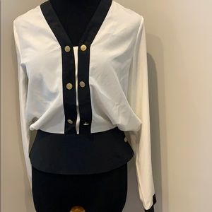 Tops - 3/$10 Black and white blouse